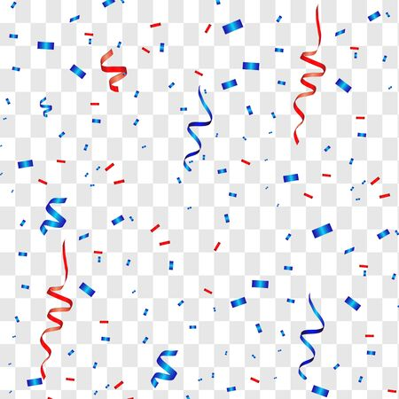 Vector confetti. Festive illustration. Party popper isolated on white background Ilustracje wektorowe
