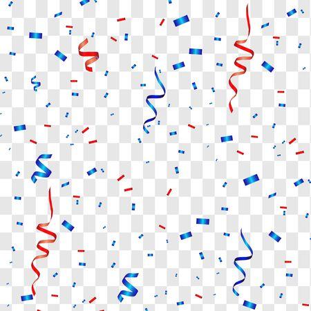 Vector confetti. Festive illustration. Party popper isolated on white background Vector Illustratie