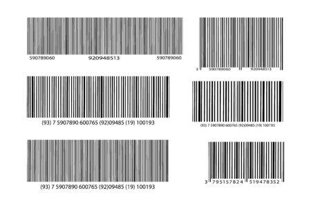 Realistic bar code icon. A modern simple flat barcode. Marketing, the concept of the Internet. Ilustración de vector
