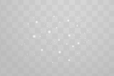 The dust sparks shine with special light. Vector sparkles on a transparent background. Christmas light effect. Sparkling magical dust particles. Vectores