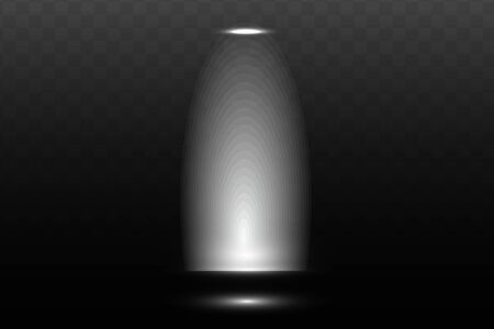 Lights shining from darkness background. Easy light flash .Vector illustration.