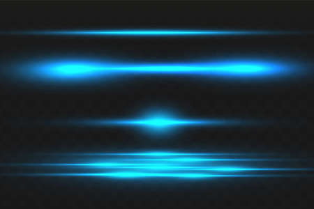 Abstract blue laser beam. Transparent isolated on black background. Vector illustration.the lighting effect.floodlight directional 向量圖像