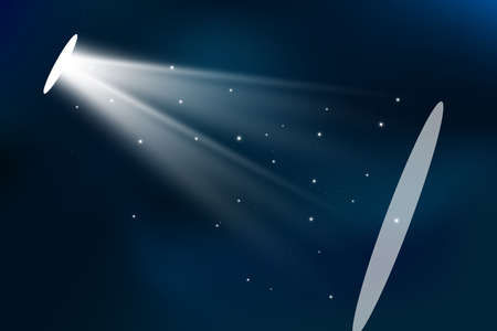 Vector spotlight. Light effect.Glow isolated white transparent light effect. Abstract special effect element design. 向量圖像