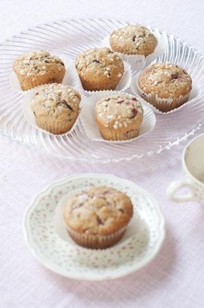 Muffins in cups - close up