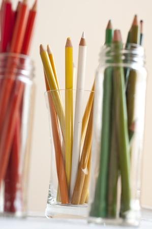 Colour pencils in glass  Stock Photo - 13797924