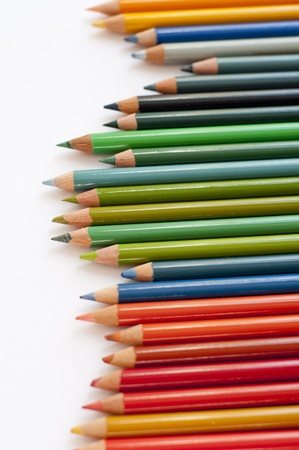 Colour pencils in a line Stock Photo - 13797929