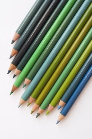 Colour pencils green and blue Stock Photo - 13797957