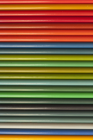 Colour pencils in a line Stock Photo - 13797954