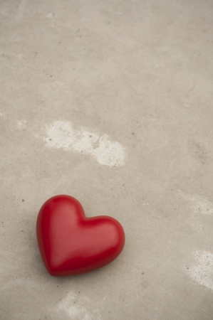 porcelain heart on a concrete background Stock Photo