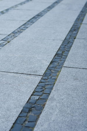 walk way surface of granite photo