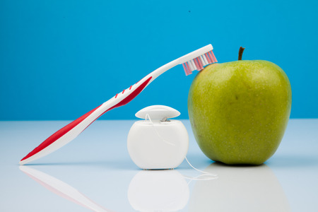 dental health care objects Stock Photo