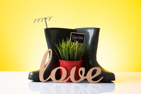 Garden love Stock Photo