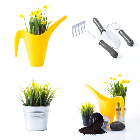 Spring gardening set Stock Photo