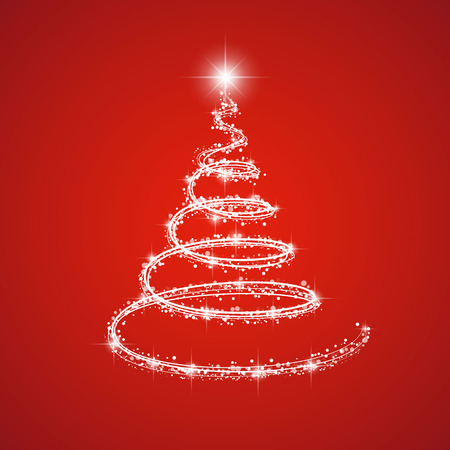 Shiny Christmas tree. Vector. Illustration
