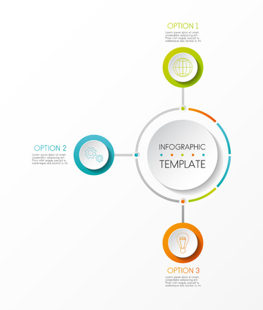 Template of infographic with steps. Vector. Illustration