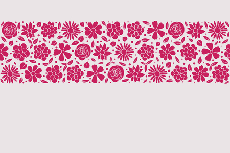 Floral wreath - concept of a spring background with colourful flowers. Vector.