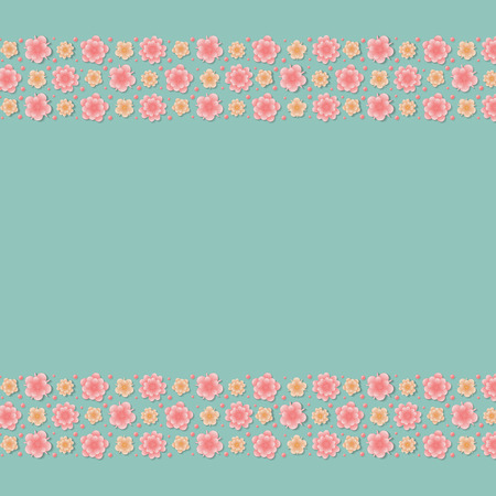 Colorful floral background - template of a card for Women's Day and Mother's Day.