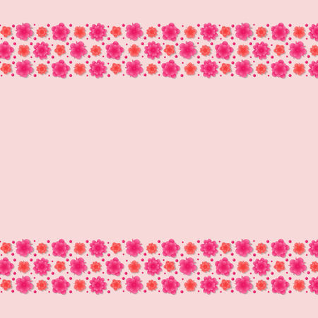 Background with flowers - layout with copyspace for Mother's Day, Women's Day. Vector. Illustration