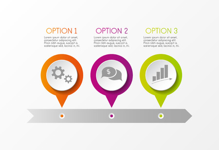 Concept of multicolored infograph with options vector.