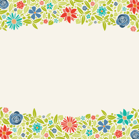 Template of a poster with pastel coloured flowers. Mother's Day, Woman's Day and Valentine's Day. Vector.