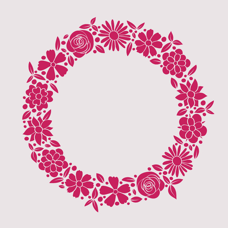 Elegant background with flowers in retro style. Mothers day, Womans day and Valentines day vector.