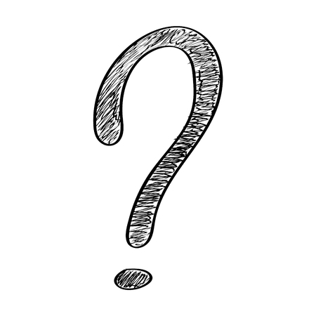 Concept of hand drawn question mark icon vector. Illustration