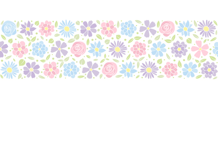 Elegant background with flowers in retro style. Vector illustration.
