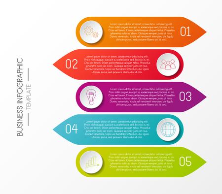 Multicoloured infographic template - company milestone. Vector. Illustration