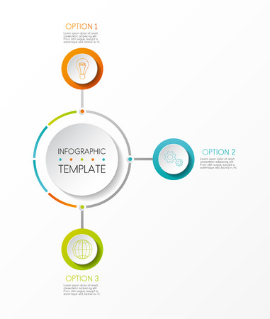 Multicoloured infographic template - company milestone. Vector. Illustration
