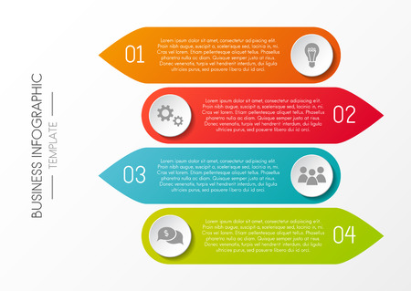 Infographic - colourful template with business icons.