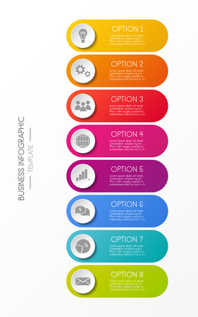 Infographic - colorful template with business icons. Illustration