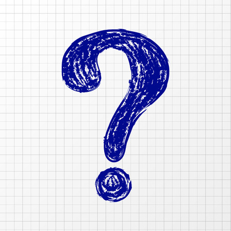 Question mark - hand drawn symbol. Vector. Vettoriali