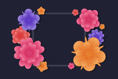 Floral card with copyspace for Mother's Day and Women's Day. Vector