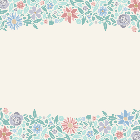 Concept of a card with flowers - spring background. Vector.