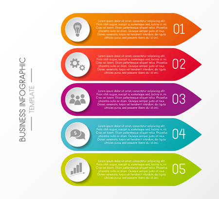 Business infograph - multicoloured template with icons and different options. Vector.