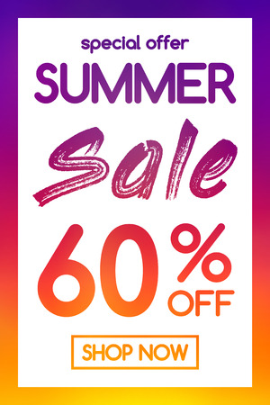 Concept of colorful poster for summer sale vector. Illustration
