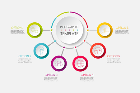Business infographic template - colourful diagram. Vector.