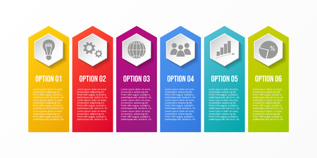 Template of infographic with different options.
