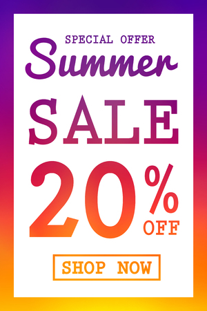 Vibrant coloured background for Summer Sale.