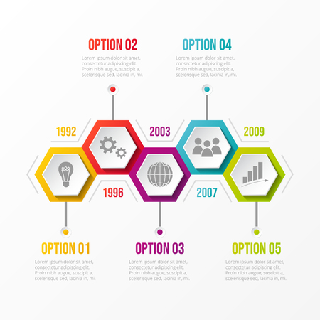 Infografía con iconos de negocios. Vector.