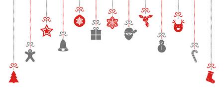 Decorazione di Natale d'attaccatura variopinta. Vettore