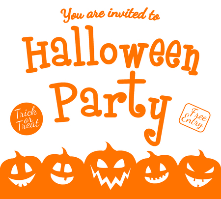 Scary invitation for Halloween Party. Vector. Illustration