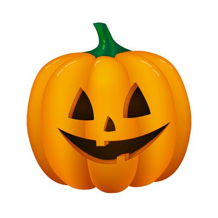 Halloween lantern isolated on white background. Vector.