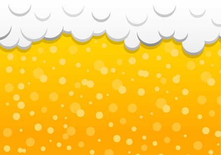 Beer texture with foam. Vector.