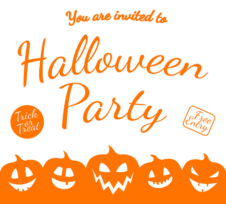 Invitation for Halloween Party - scary poster. Vector. Illustration