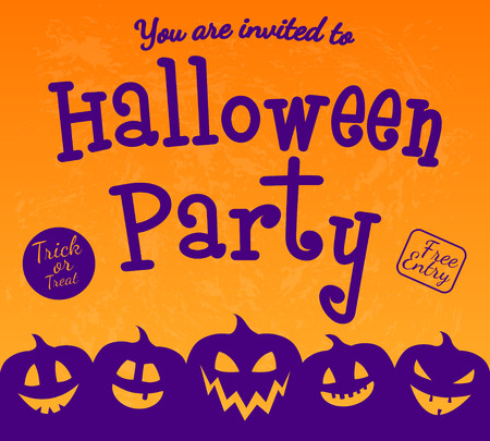Scary invitation for Halloween Party. Vector.