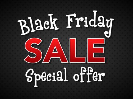 Black Friday Sale - banner. Vector.