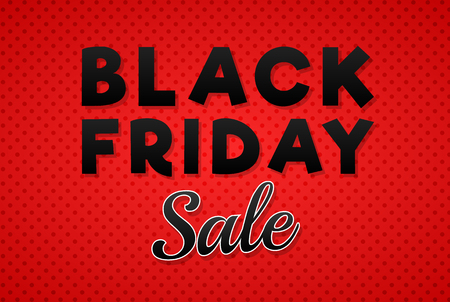 Black Friday Sale - shiny banner. Vector.