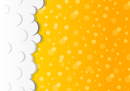 Beer background with foam - frothy drink. Vector. Illustration