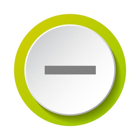 Icon of minus- math symbol. Vector.